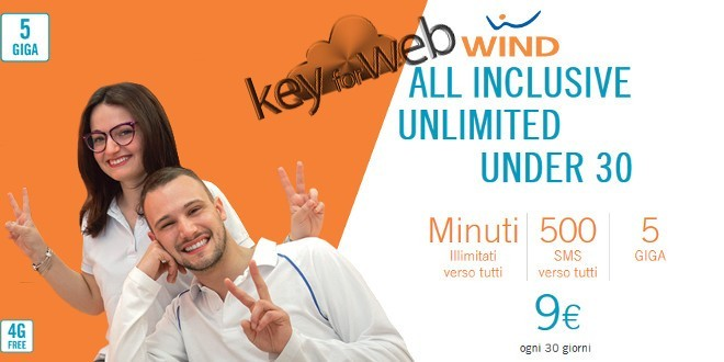 All Inclusive Unlimited, la migliore offerta Wind per gli Under 30