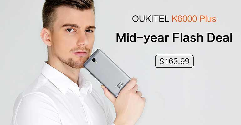 OUKITEL K6000 Plus in offerta con vendita flash a 163,99$