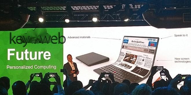 Lenovo mostra un concept di laptop con schermo flessibile