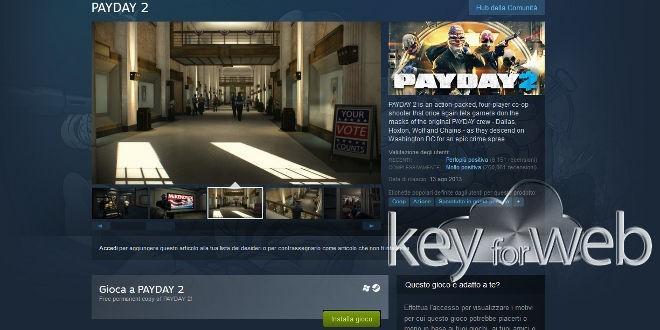Payday 2 disponibile gratuitamente su Steam per un periodo limitato