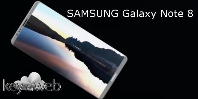 Samsung Galaxy Note 8, un proteggi schermo in vetro appare in rete, confermate cornici sottilissime