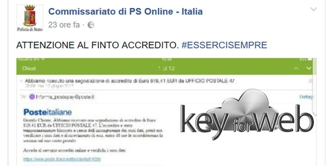 Segnalazione di accredito sul conto Poste Italiane, occhio all'email truffa