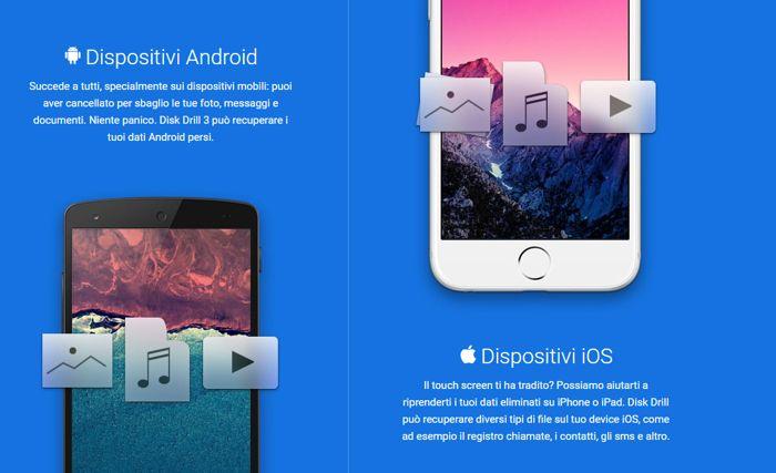 Come recuperare dati da Android, iPad ed iPhone velocemente e facilmente grazie a Disk Drill 3