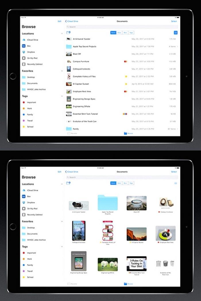 WWDC 2017 – Apple ha il suo file manager: ecco come funziona su iOS 11