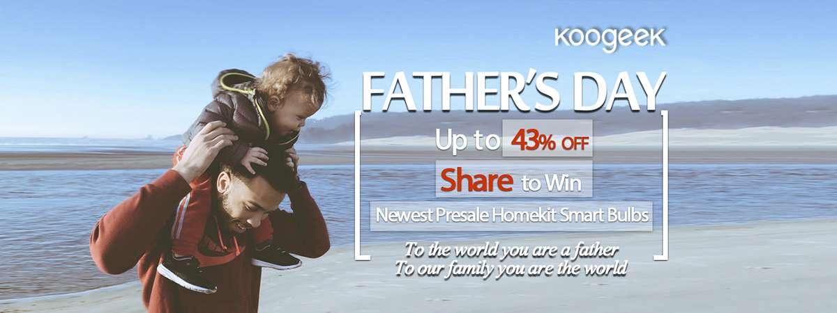Acquista con codice coupon i prodotti Koogeek per il Father's Day e partecipa al concorso