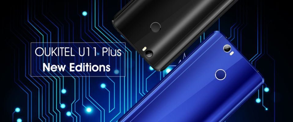OUKITEL U11 Plus disponibile nelle nuove colorazioni Sapphire Blue e Brilliant Black