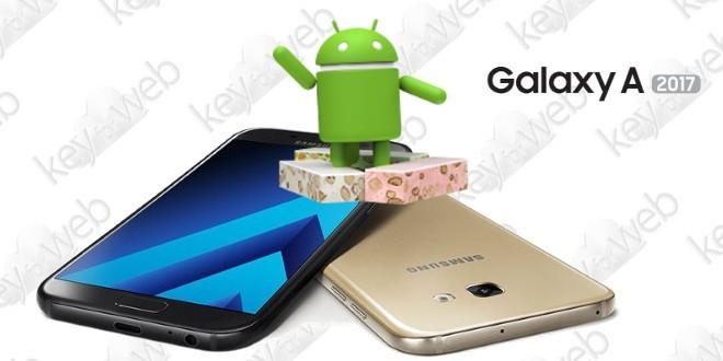 Android 7.0 Nougat per Galaxy A5 e A7 2017 disponibile a breve