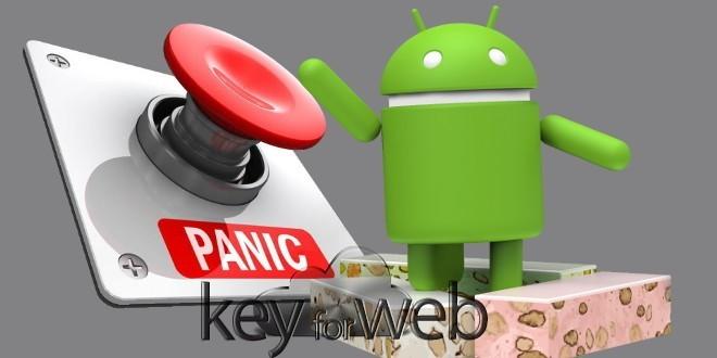 """Android Nougat 7.1 e la funzione nascosta """"Panic Mode"""" per fronteggiare le app infette"""