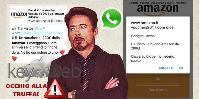 Ennesimo Voucher truffa su WhatsApp: stavolta si tratta di Amazon