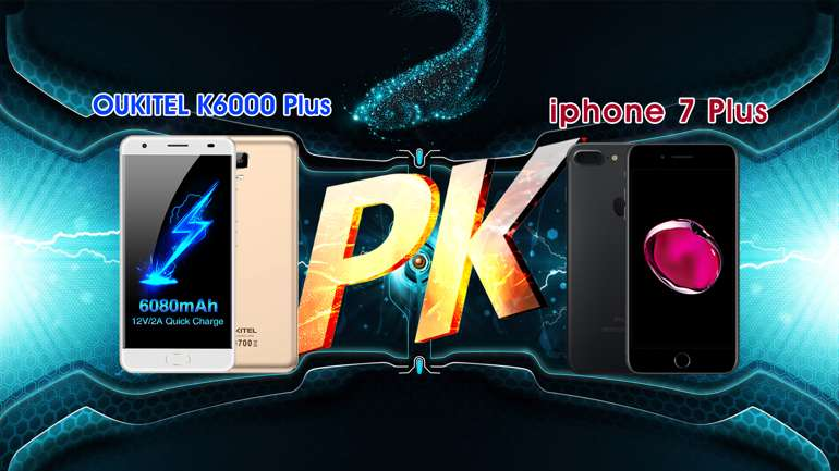 Test di ricarica: OUKITEL K6000 Plus VS iPhone 7Plus