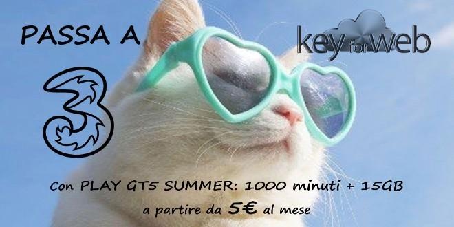 Passa a Tre da TIM e Operatori Virtuali con Play GT5 Summer: 1000 minuti + 15GB a 5€