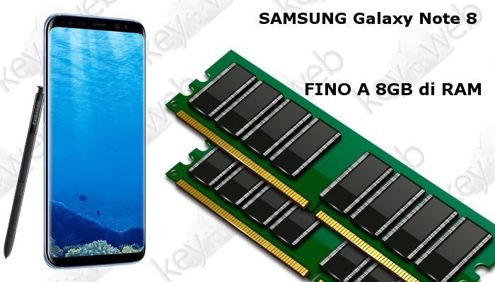 Samsung Galaxy Note 8 Emperor Edition. Più RAM del vostro PC grazie agli 8GB