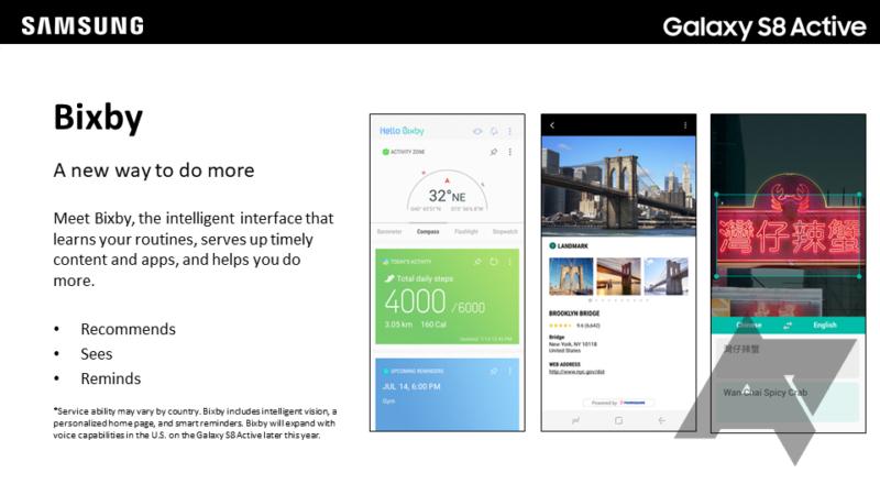 Samsung Galaxy S8 Active si esibisce in queste nuove immagini riprese direttamente dal manuale utente del prodotto