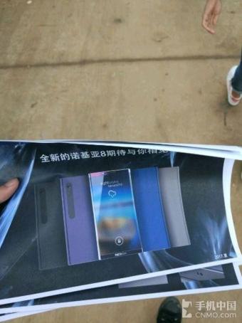 Un Nokia 8 Galattico quello mostrato in queste presunte foto, c'è anche lo scanner dell'iride