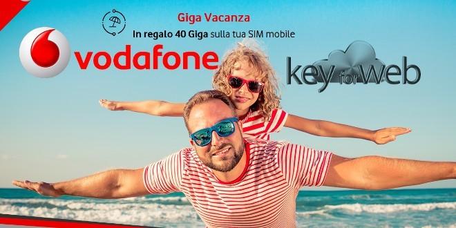 Vodafone Giga Vancanza, 40GB in regalo ai clienti fisso e mobile