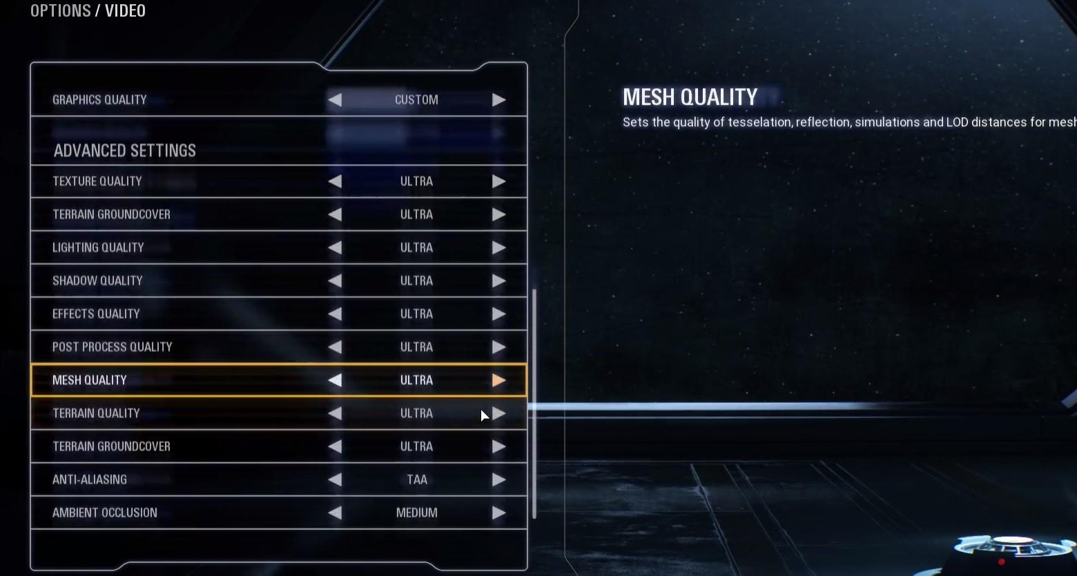 Star Wars Battlefront 2 settings