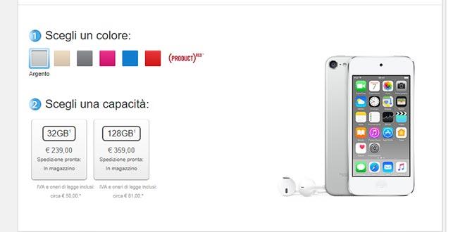 Apple, addio ad iPod Nano e Shuffle: c'è solo iPod Touch (che costa pure meno)
