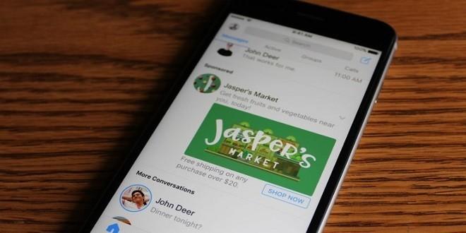 Facebook sperimenta i messaggi pubblicitari all'interno dell'app Messenger