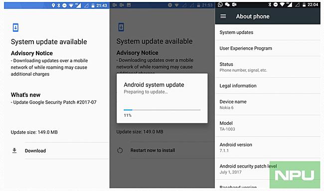 Nokia 6 patch update
