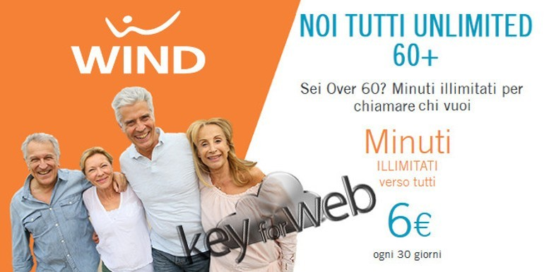 Prorogata l'offerta passa a Wind per gli Over 60: minuti illimitati a 6€