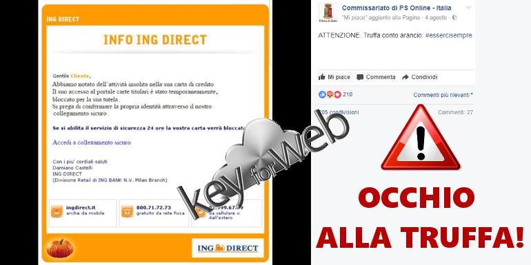 """Conto Arancio: """"attività insolita nella sua carta di credito"""", occhio all'email truffa"""
