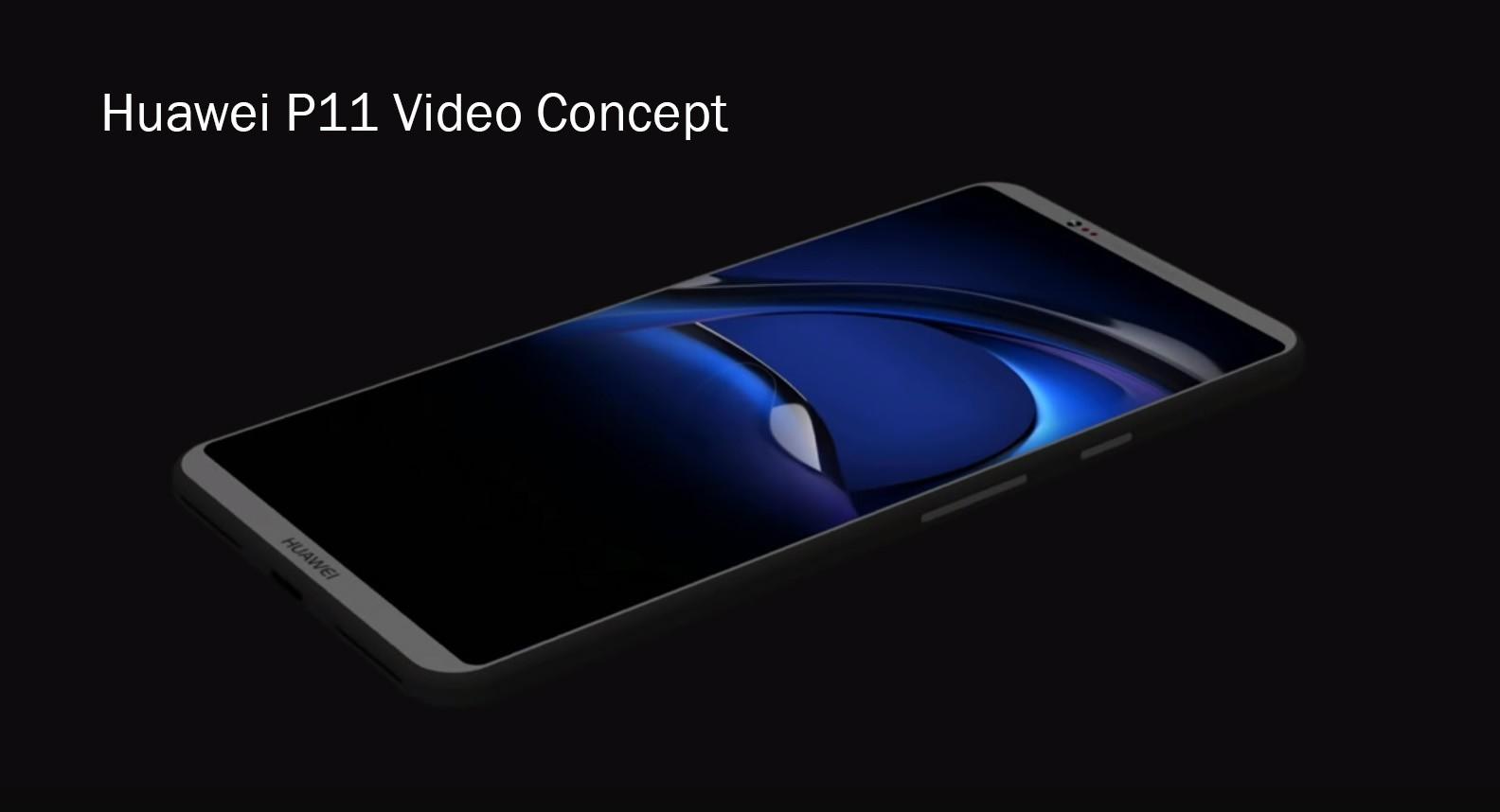 Huawei P11 in un primo concept render con corpo in titanio e display 18:9
