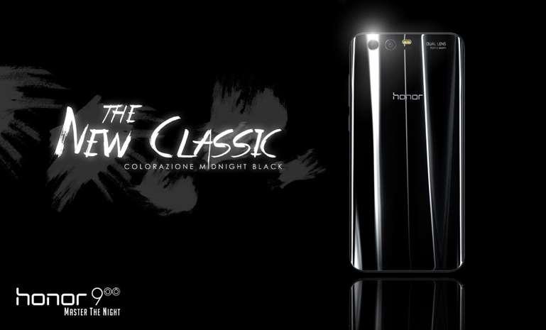 Huawei Honor 9 aggiunge il Midnight Black tra le sue colorazioni