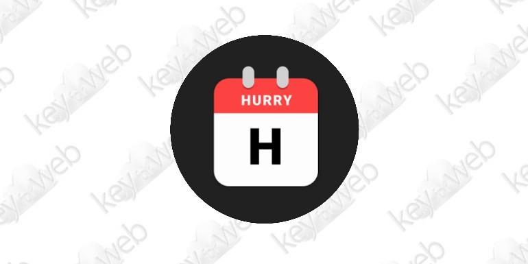 Hurry, l'app gratuita che mostra il conto alla rovescia degli eventi