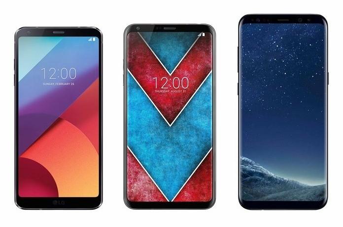 LG V30 in mezzo ad LG G6 e Samsung Galaxy S8