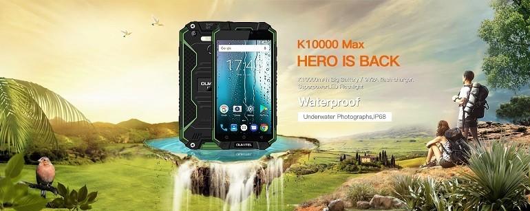 Sfida OUKITEL K10000 Max: a bagno nella vernice