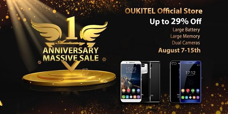 Oukitel Official Store festeggia il suo primo anniversario con maxi sconti