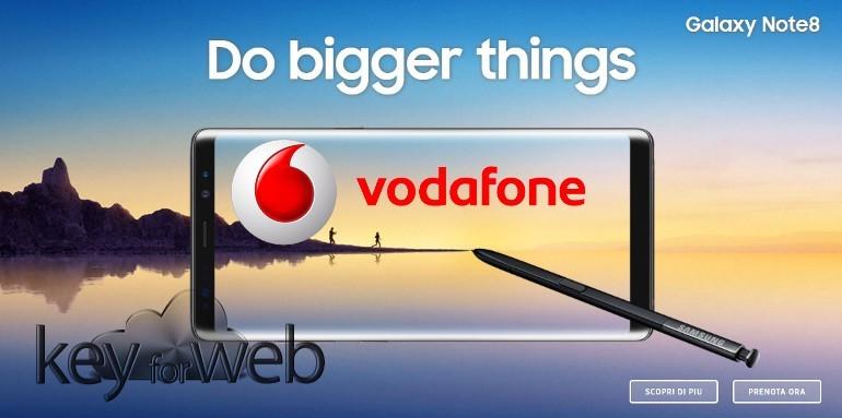 Samsung Galaxy Note 8, preordine in offerta con Vodafone