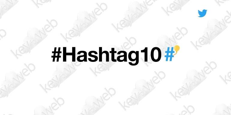 Twitter festeggia i 10 anni degli Hashtag