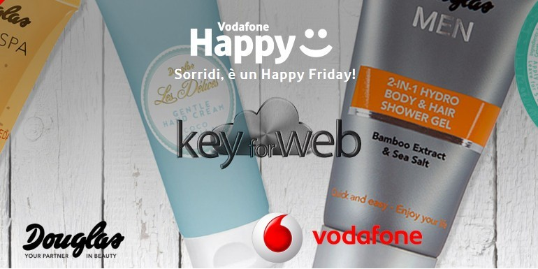 Vodafone Happy Friday del 25 agosto 2017: 25% di sconto su Profumerie Douglas