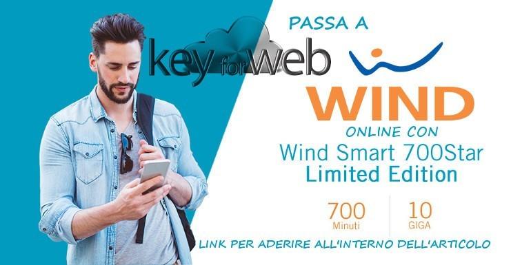 Prosegue l'offerta passa a Wind Online con Smart 700 Star Limited Edition: 700 minuti + 10GB a 10€, ecco il link per l'attivazione