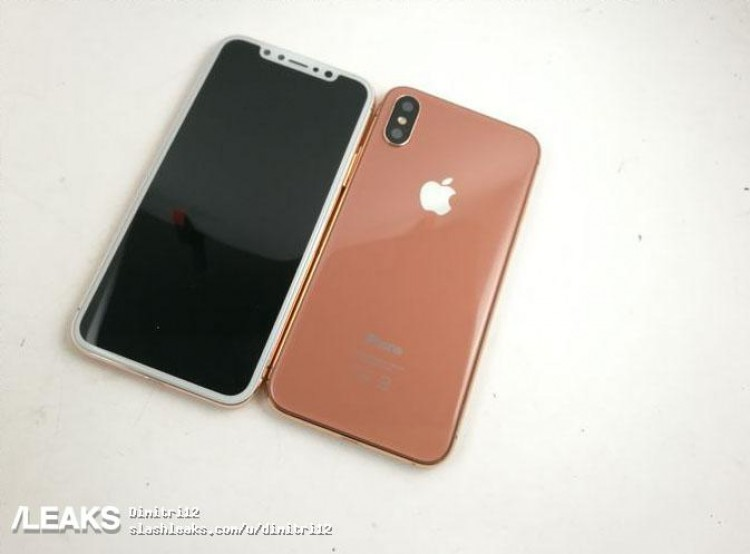 iPhone 8, la colorazione Copper Gold in nuove nitide immagini. Frontale bianco, posteriore in rame dorato