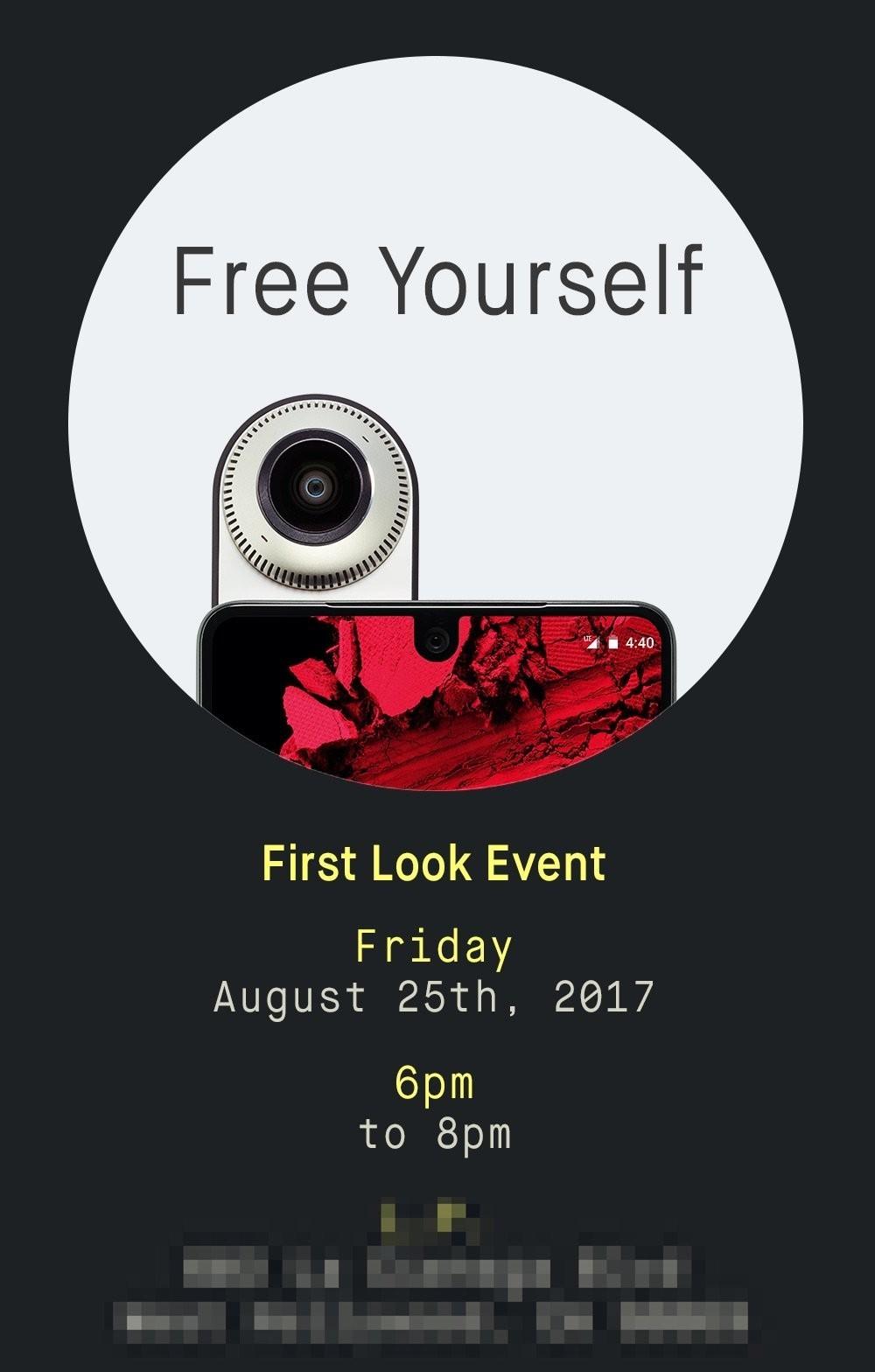 First Look Essential Phone, l'evento fissato il 21 agosto mette in mostra il dispositivo di Andy Rubin