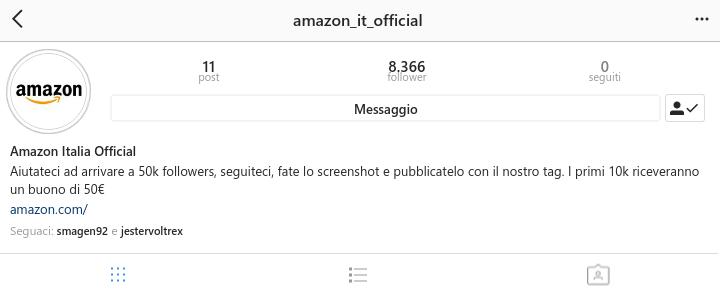 Instagram Amazon