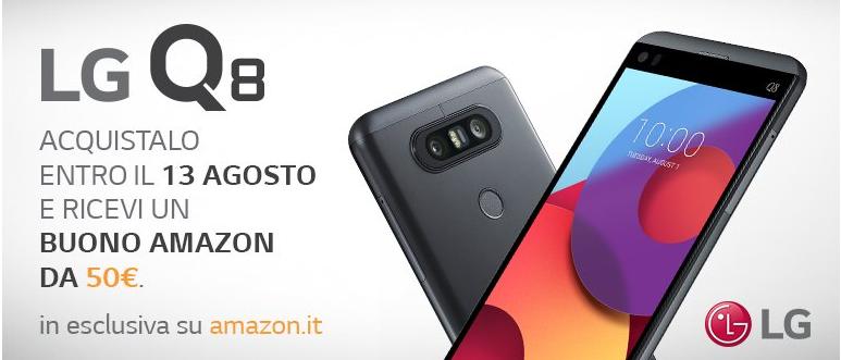 Offerta Smartphone LG Q8: imperdibile buono sconto di 50€