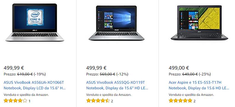 Offerte Notebook su Amazon: fino a 150€ di sconto