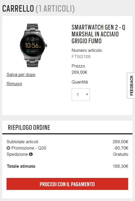 offerte smartwatch fossil
