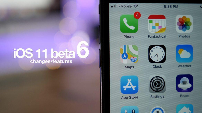 iOS 11 beta 6 arriva con nuove icone e diversi miglioramenti di sistema