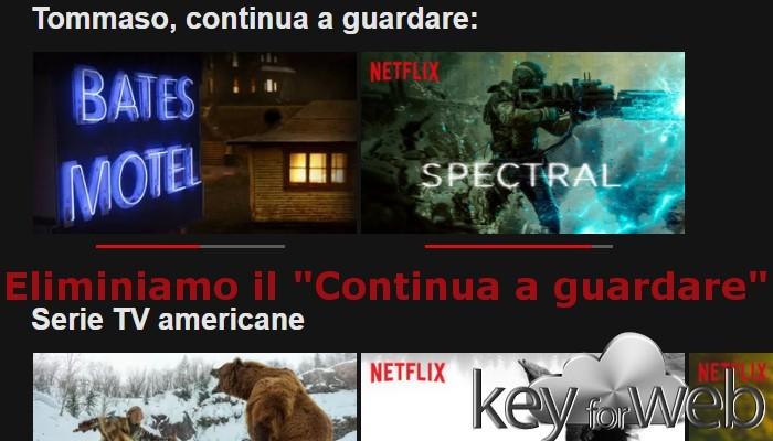 """Come togliere il """"Continua a guardare Netflix"""""""