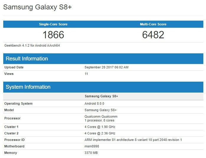 Galaxy S8 Plus: la versione beta di Android 8.0 Oreo potrebbe arrivare a breve