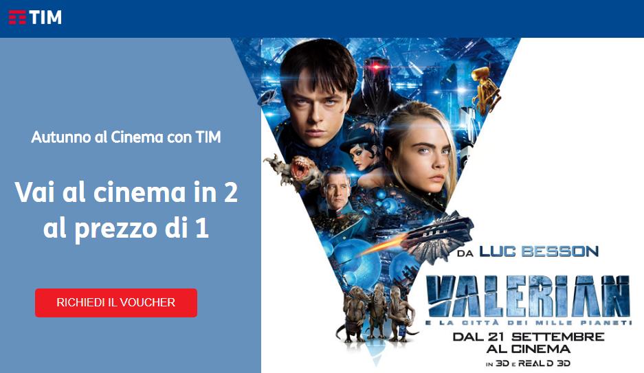 TIM ti manda al cinema: Voucher da spendere in 900 sale italiane