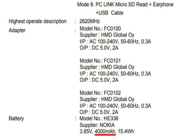 Nokia 2 - batteria da 4.000 mAh