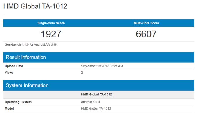 Nokia 8 con Android Oreo 8.0