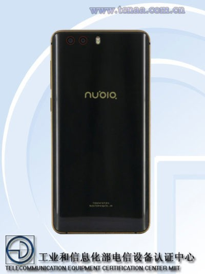 Nuovo Nubia NX598J certificato da TENAA con 6GB di RAM a bordo