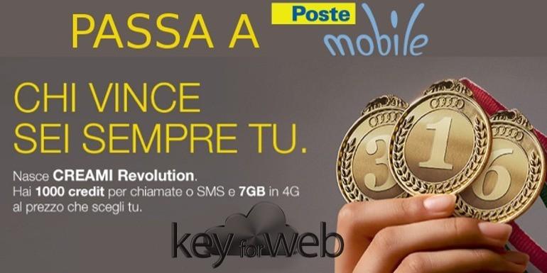 Torna disponibile PosteMobile Creami Revolution: 1.000 credit e 7GB al prezzo che preferisci