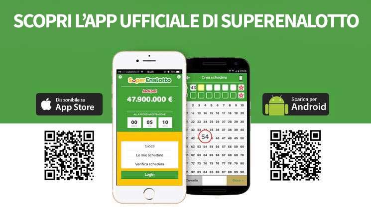 Gioca quando vuoi al SuperEnalotto, scarica l'app per Android e iOS